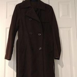 Dark brown long Gap coat S